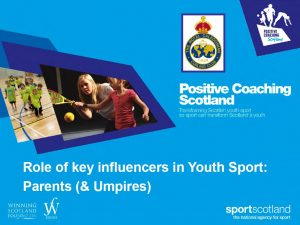 Role of sporting parent
